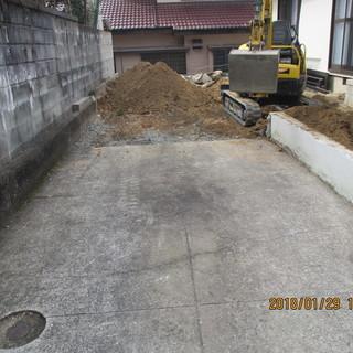 福岡、便利屋,外溝工事、車庫堀、ブロック徹去、庭石徹去、植木徹去