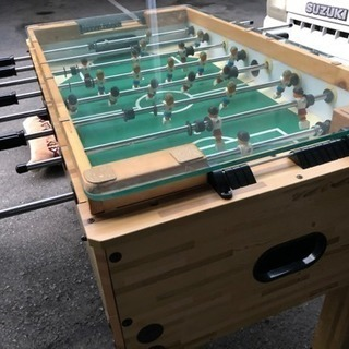 ガラス天板付き テーブルサッカー フーズボール