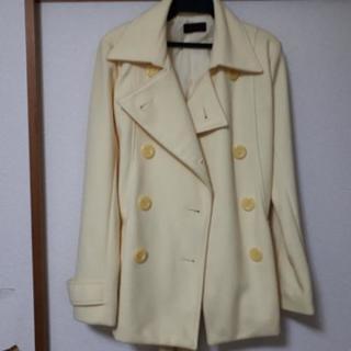 値下げ コート 淡い黄色
