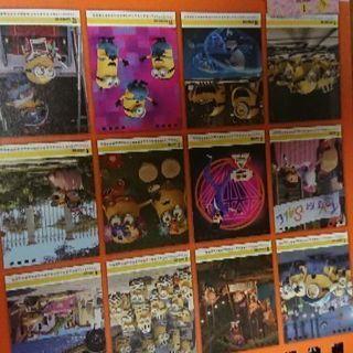 ミニオン卓上カレンダーの画像