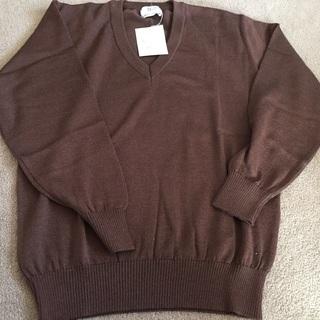 三越のセーター 未使用 自宅保管品 メンズ Sサイズ 茶色
