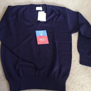 三越のセーター 自宅保管品 紺色 メンズ Sサイズ