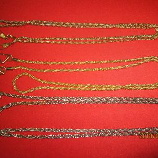 再再再値下げ品 ネックレス用チエーン3本(スチール)