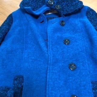 値下げ!!さらに値下げ!!イタリア製 総セーターの生地コート