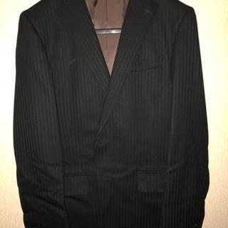 中古品 スーツセット (ストライプ/黒)