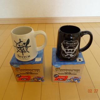 スティッチーのカップ 2個