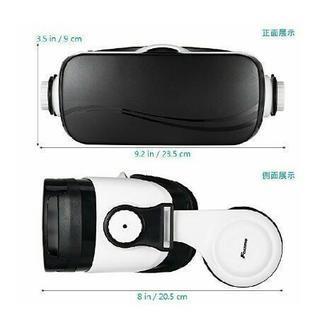 3D VRゴーグル FOXNOVO vr ゴーグル レンズ調整可能ヘッドバンド付 【新品未使用】 − 兵庫県
