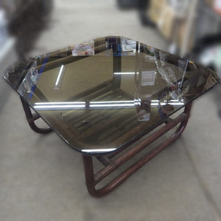 札幌 ヤマカワラタン ローテーブル 62×62×33cm 格子状...