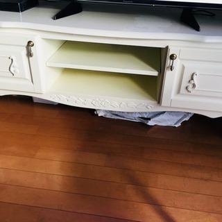 ホワイト テレビボード 幅140 ブルーレイ 棚 猫足