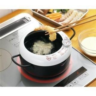 温度計付天ぷら鍋 20cm 新品