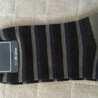 新品!靴下 25-27センチ 洋服の青山