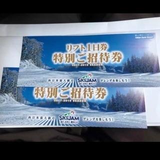 スキージャム勝山 1日リフト券