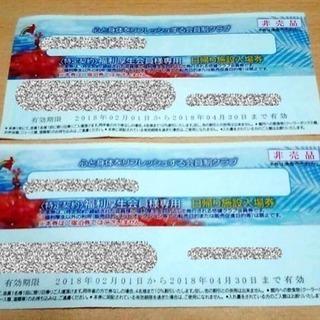 スパリゾートハワイアンズ   無料券+スライダー割引券