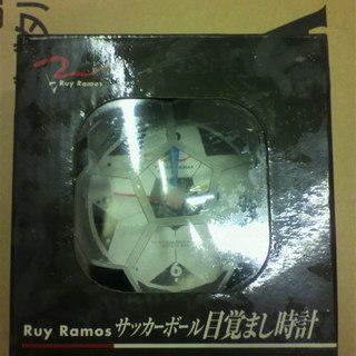 未使用 RuyRamos サッカーボール目覚まし時計 ラモス瑠偉