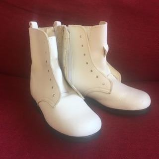 ベビー 17㎝ ウェスタン ブーツ キッズ 子供 靴 長靴 白 ...