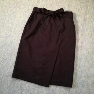 未使用♪ハニーズGLACIER Mサイズ ラップ風スカート ブラック