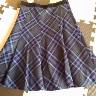 お値下げしました!フレアースカート 青×紫×黒