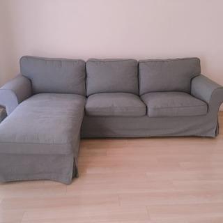 IKEA EKTORP 寝椅子付き3人掛けソファの画像