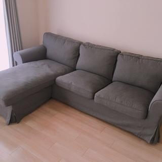IKEA EKTORP 寝椅子付き3人掛けソファ − 東京都