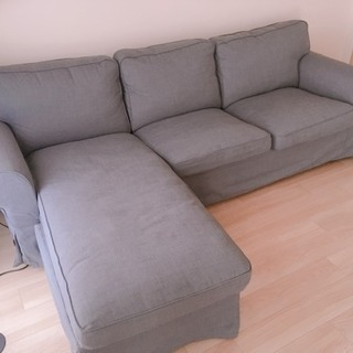 IKEA EKTORP 寝椅子付き3人掛けソファ - 家具