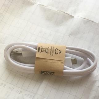 新品未使用 超丈夫長さ約90cm シンプル純白充電線ケーブル デ...