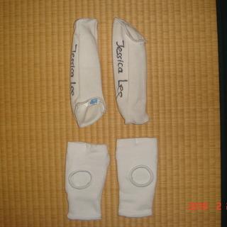 空手防具 脛(すね)と足首のサポーター 子供用