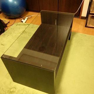 ガラス張り ローデスク 机