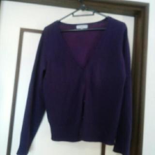 紫カーディガンLLサイズ