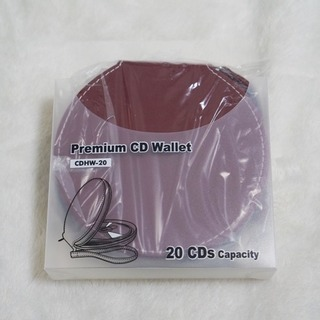 新品未使用 レザー CDケース ダークレッド