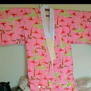正絹 長襦袢 袷 アンティーク風  折り鶴