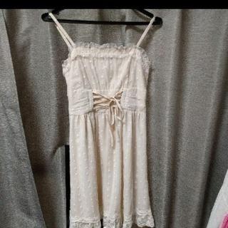 レースリボンワンピースドレス