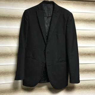 訳あり激安❗️ メンズ スーツ ジャケットのみ ブラック ストライプ