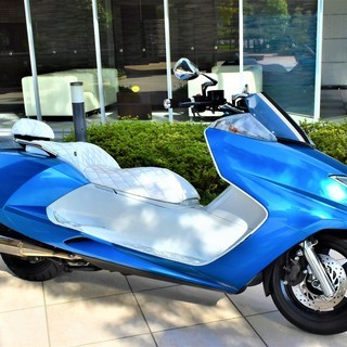 【実走10380km】YAMAHA MAXAM custom Blue×white Black Wheel 自賠付 低走行 個人 極上 保管 希少 女性【綺麗な青】 値下げの画像