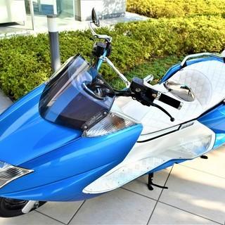 【実走10380km】YAMAHA MAXAM custom Blue×white Black Wheel 自賠付 低走行 個人 極上 保管 希少 女性【綺麗な青】 値下げ - バイク