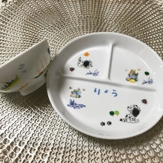 キッズ用の食器をポーセラーツで手作り(*ˊ˘ˋ*)。♪:*°