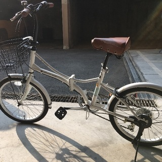 折りたたみ20インチ自転車ギア6段変速!!