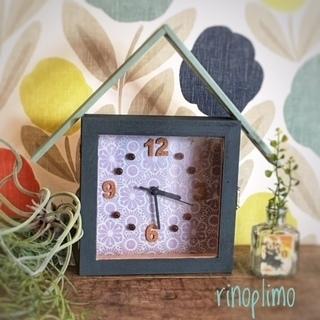 ▼▽▼選べる壁紙のお家型時計▼▽▼