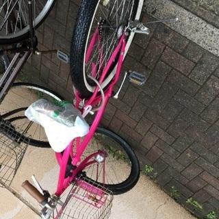 イスのカバー破損ジャンク自転車