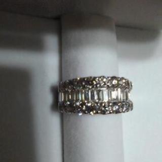 3ctダイヤ高品質指輪K18WG
