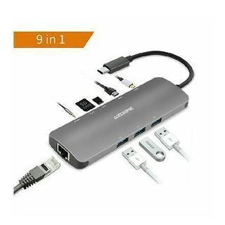 AZDOOM  USB Cハブ アダプタ3.1タイプC充電ポート...