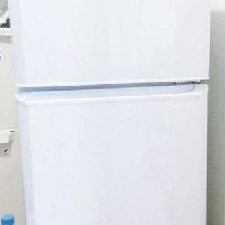 2ドア 直冷式冷蔵庫 2014年制(106L・右開き)ホワイト