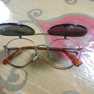 サングラス付き 度入りの眼鏡