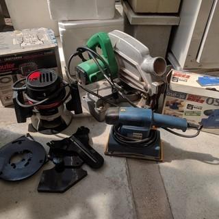 中古工具 ルーター のこ盤 電動サンダー セット
