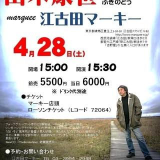 4月28日(土)山木康世 江古田ライブ