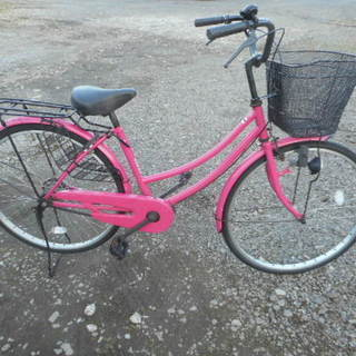 売約済み26インチピンク かわいい自転車 女性向け