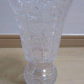 高級 500PK ボヘミアングラス 25cm花瓶