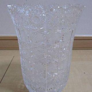 高級 500PK ボヘミアングラス 20cm花瓶