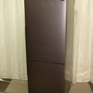 棚板ありません。シャープ 271L 2ドア冷蔵庫(ブラウン系・ダ...