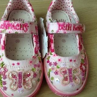 新品 イタリア靴 15〜15.5cm ちょうちょ