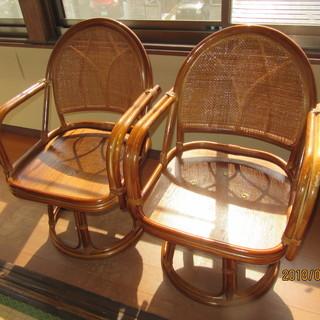 籐椅子4脚(わけあり)